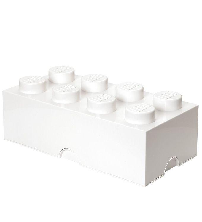 Billede af Lego Storage Opbevaringsboks - 8 Knopper - Hvid