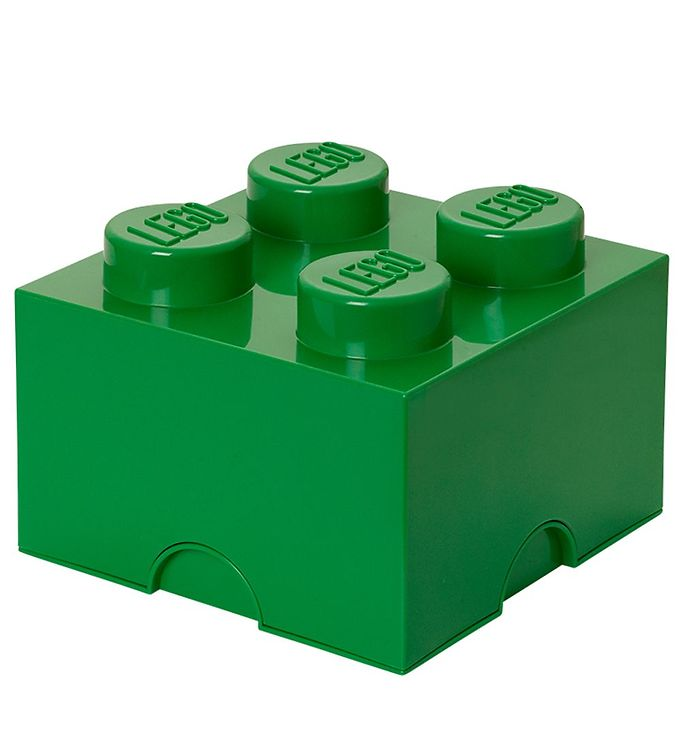 Image of Lego Storage Opbevaringsboks - 4 Knopper - 24,7 cm - Grøn (T352)