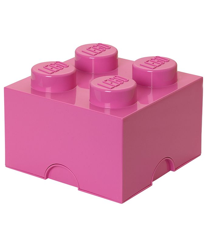 Image of   Lego Storage Opbevaringsboks - 4 Knopper - Pink