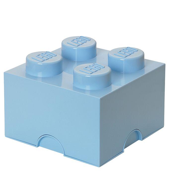 Image of Lego Storage Opbevaringsboks - 4 Knopper - 24,7 cm - Lyseblå (T355)