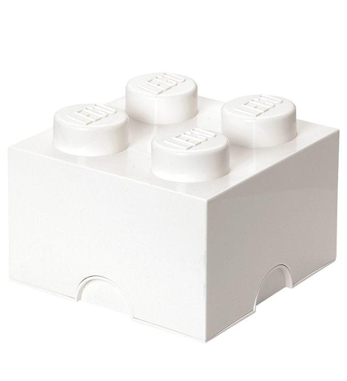 Billede af Lego Storage Opbevaringsboks - 4 Knopper - Hvid