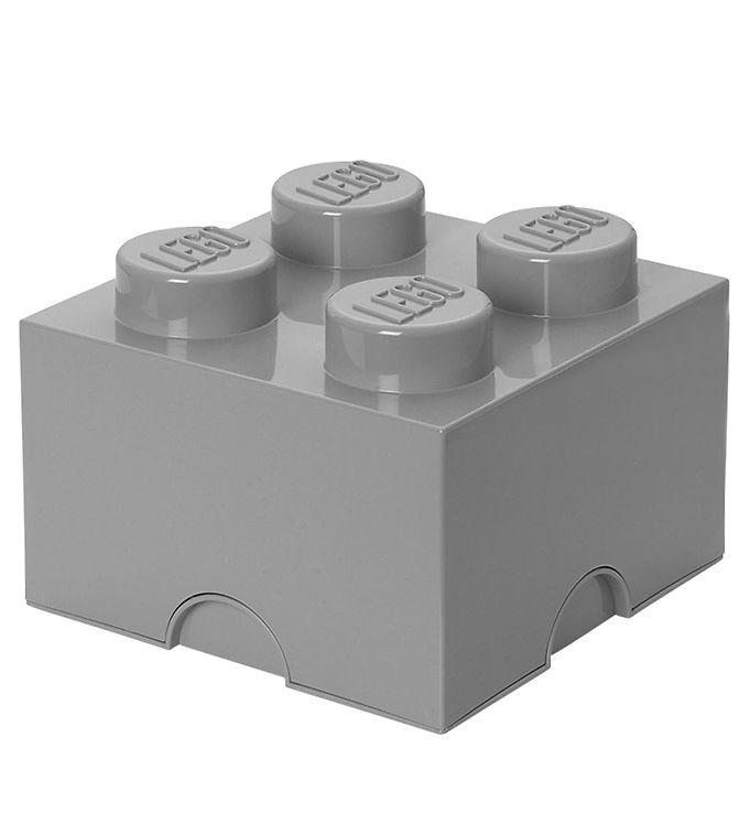 Billede af Lego Storage Opbevaringsboks - 4 Knopper - Lysegrå