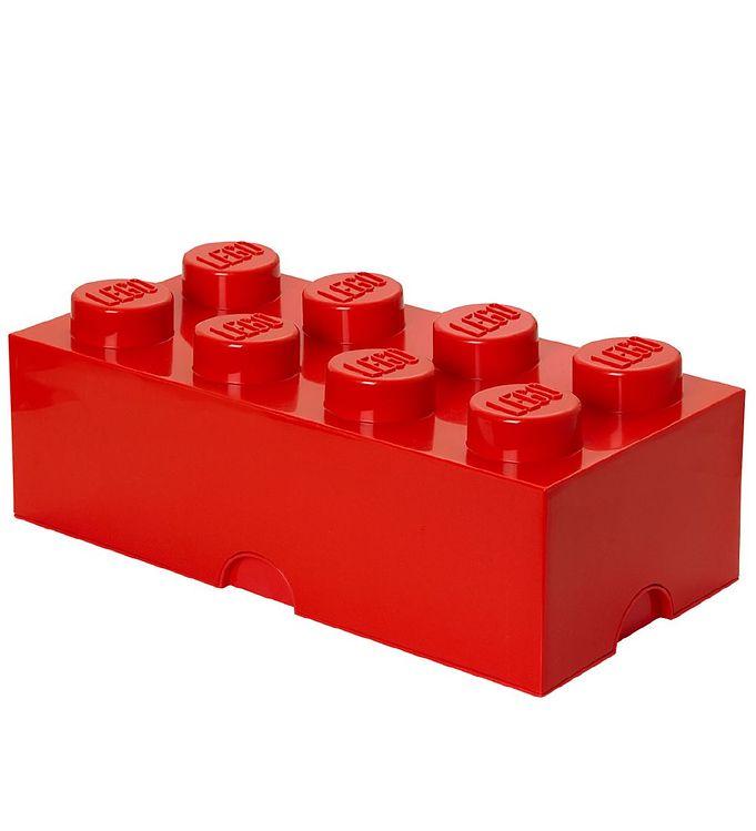 Image of Lego Storage Opbevaringsboks - 8 Knopper - 49 cm - Rød (T381)