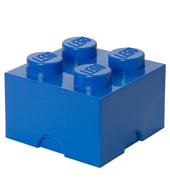 Image of   Lego Storage Opbevaringsboks - 4 Knopper - Blå
