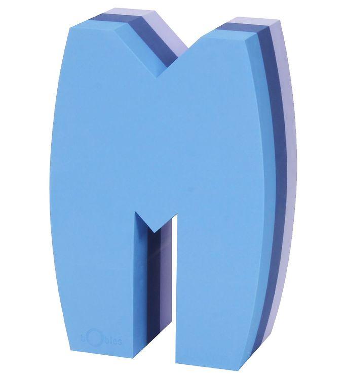 Billede af bObles Tumlebogstav - M - Multi Blå/Lilla
