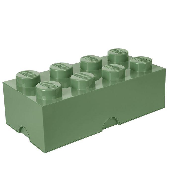 Image of Lego Storage Opbevaringsboks - 8 Knopper - Støvet Grøn (TA312)