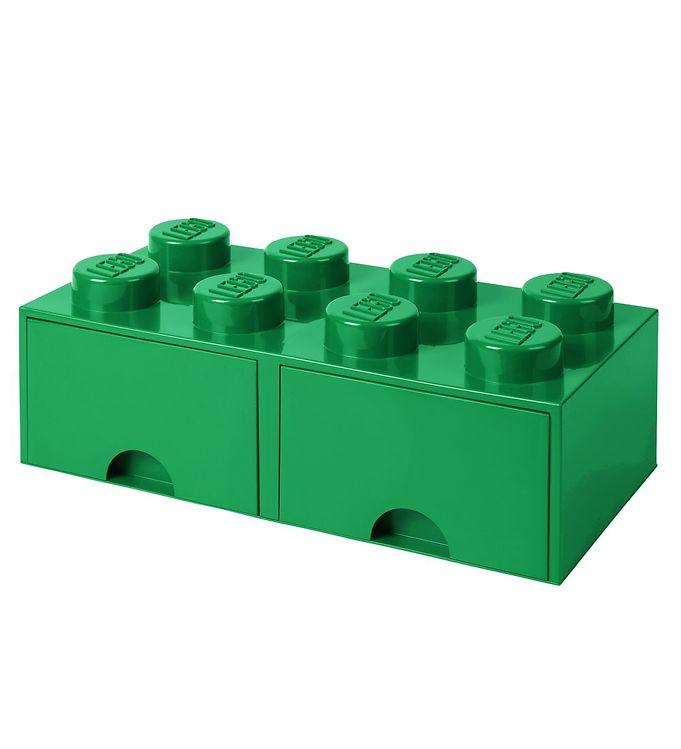 Image of   Lego Storage Opbevaringsskuffe - 8 Knopper - Grøn