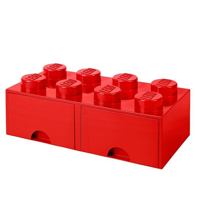 Image of   Lego Storage Opbevaringsskuffe - 8 Knopper - Rød