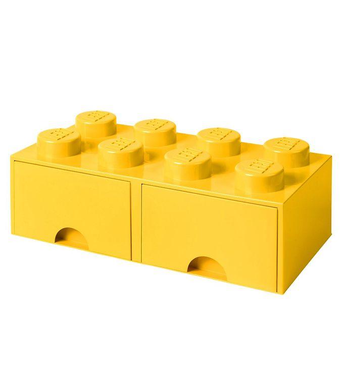 Image of   Lego Storage Opbevaringsskuffe - 8 Knopper - Gul