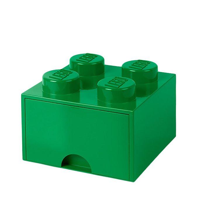 Image of   Lego Storage Opbevaringsskuffe - 4 Knopper - Grøn