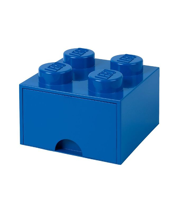 Billede af Lego Storage Opbevaringsskuffe - 4 Knopper - Blå