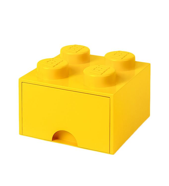 Image of   Lego Storage Opbevaringsskuffe - 4 Knopper - Gul