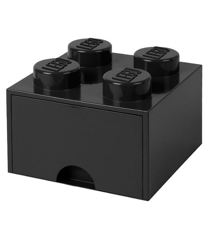 Image of   Lego Storage Opbevaringsskuffe - 4 Knopper - Sort