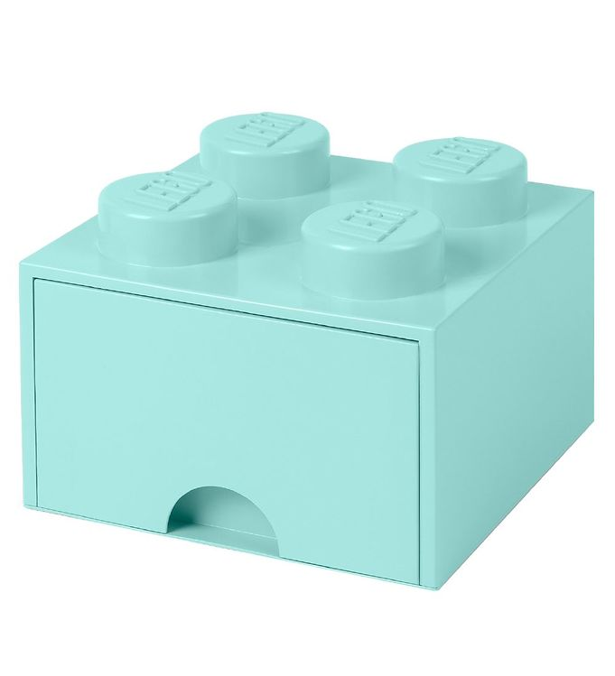 Image of   Lego Storage Opbevaringsskuffe - 4 Knopper - Aquablå