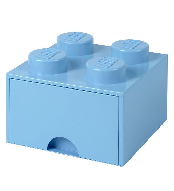 Billede af Lego Storage Opbevaringsskuffe - 4 Knopper - Lyseblå