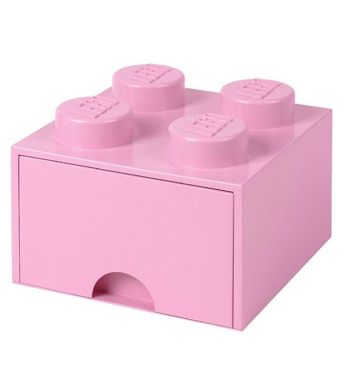 Image of   Lego Storage Opbevaringsskuffe - 4 Knopper - Lys Lilla
