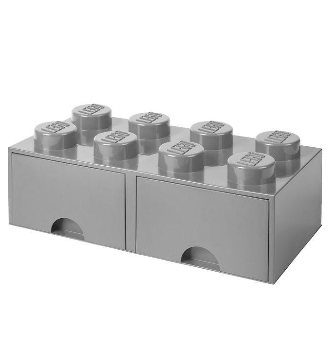 Billede af Lego Storage Opbevaringsskuffe - 8 Knopper - Grå