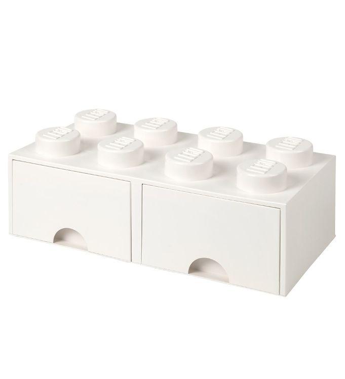 Billede af Lego Storage Opbevaringsskuffe - 8 Knopper - Hvid