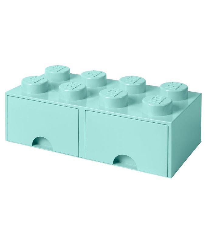 Billede af Lego Storage Opbevaringsskuffe - 8 Knopper - Aquablå