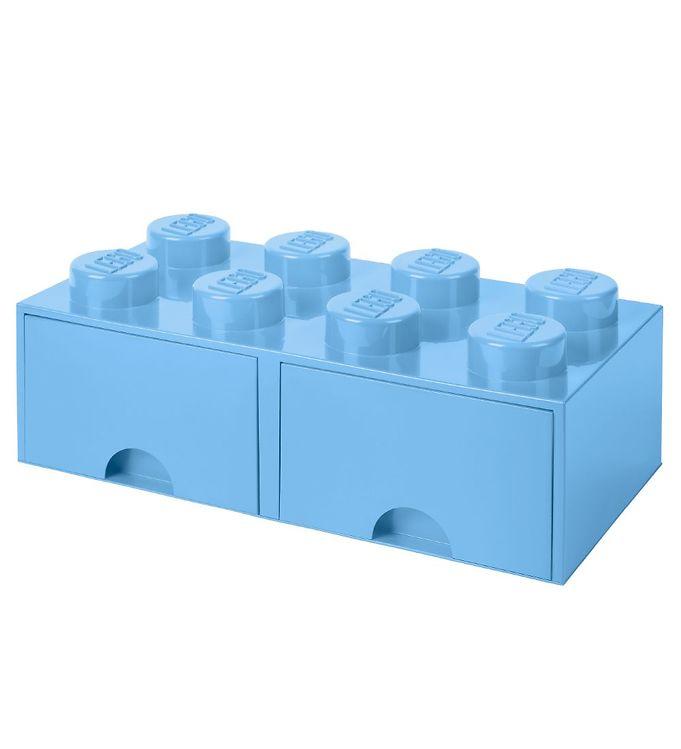 Billede af Lego Storage Opbevaringsskuffe - 8 Knopper - Lyseblå