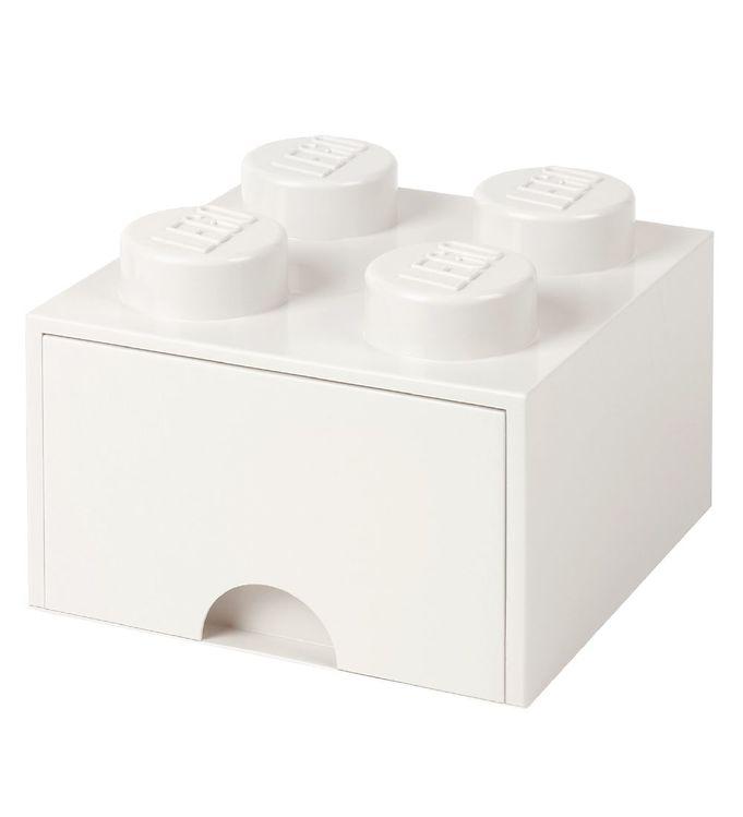 Image of   Lego Storage Opbevaringsskuffe - 4 Knopper - Hvid