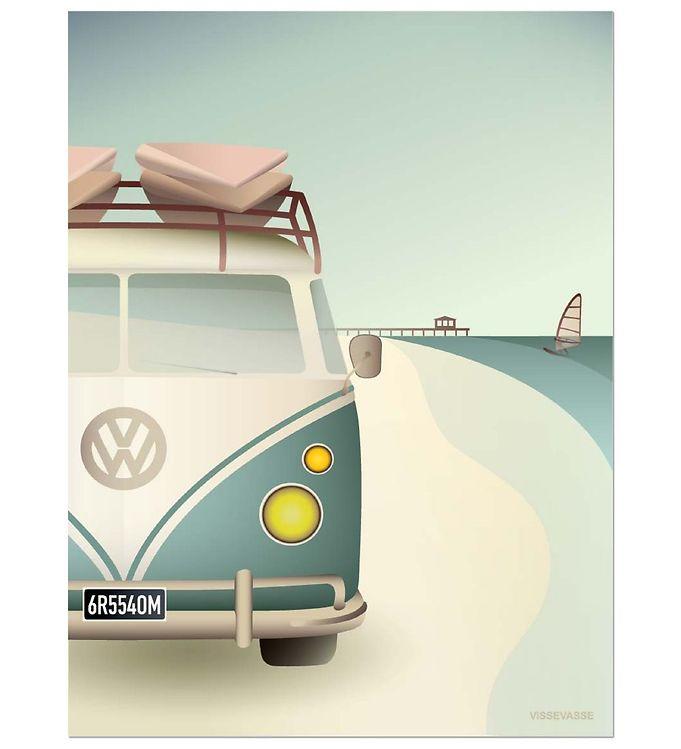 vissevasse Vissevasse plakat - 50x70 - vw camper på kids-world