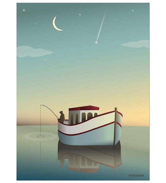 vissevasse Vissevasse plakat - 50x70 - fiskeren fra kids-world