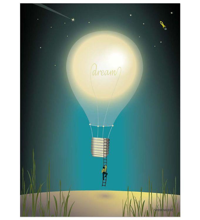 vissevasse Vissevasse plakat - 50x70 - dreaming på kids-world