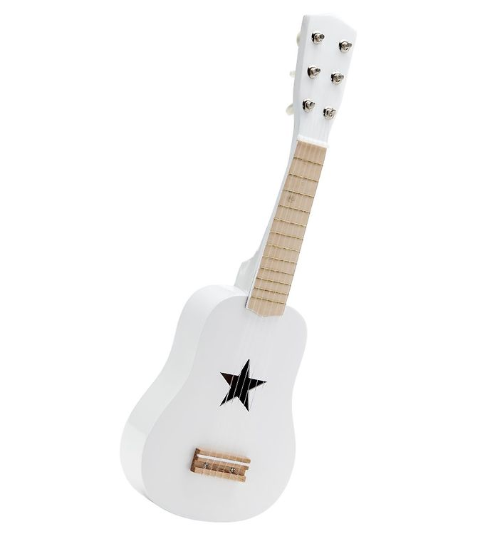 Kids Concept Guitar - Hvid - Kids Concept Instrument,Kids Concept Trælegetøj,Musikinstrumenter - Kids Concept