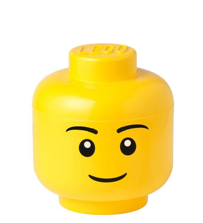 Image of Lego Storage Opbevaringsboks - Lille - Hoved - 19,3 cm - Dreng (TA768)