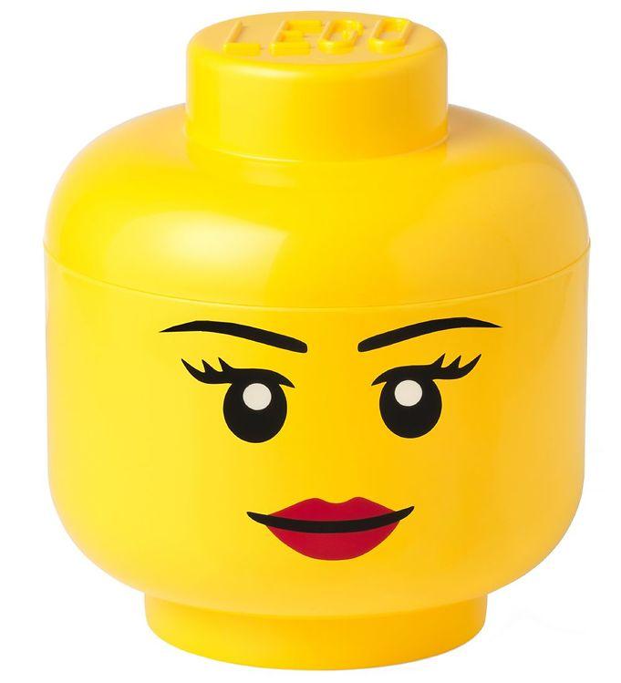 Image of Lego Storage Opbevaringsboks - Stor - Hoved - Pige (TA770)