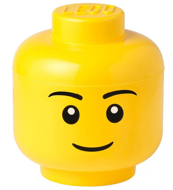 Image of Lego Storage Opbevaringsboks - Stor - Hoved - 26,8 cm - Dreng (TA771)