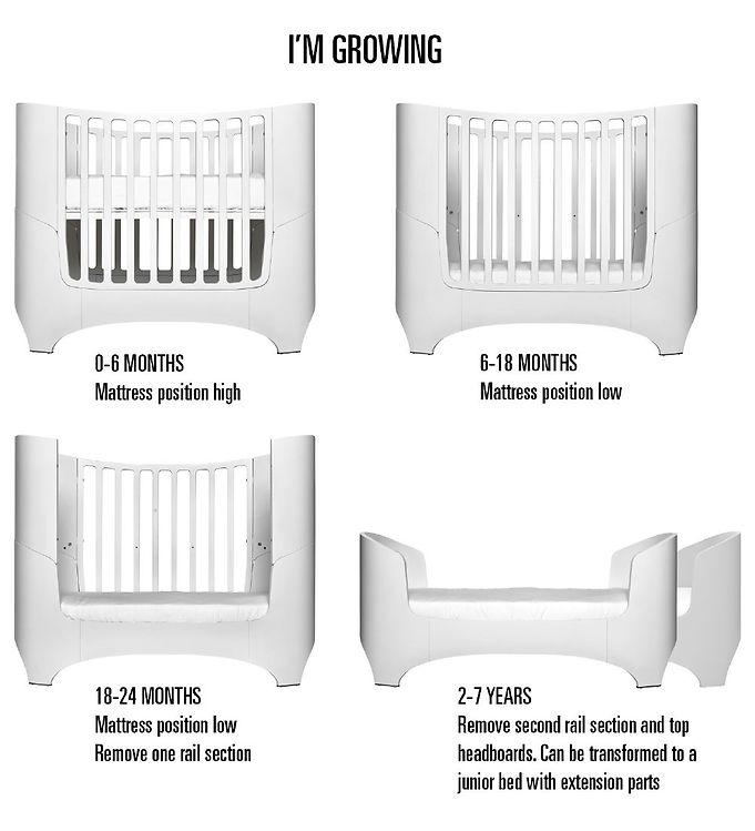 Den bedste tremmeseng - Leander tremmeseng - forskellige udvidelser af sengen