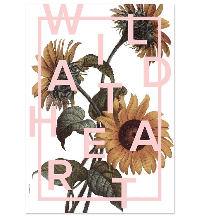 Billede af I Love My Type Plakat - 50x70 - Power Flower - Wild At Heart