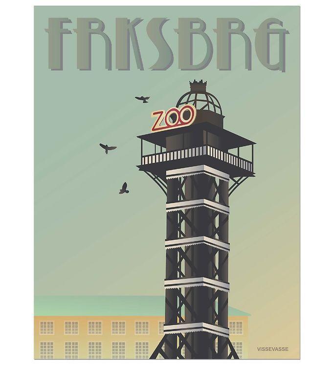 Billede af Vissevasse Plakat - 50x70 cm - Frederiksberg - Zoo Tårnet