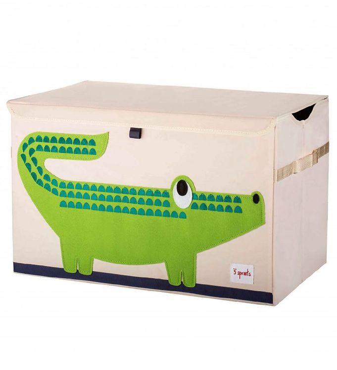 Image of   3 Sprouts Opbevaringskasse - 38x61x37 - Krokodille