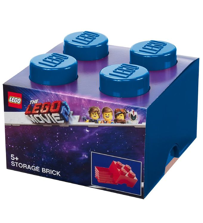 Image of Lego Storage Opbevaringskasse - Lego Movie 2 - 4 Knopper - Blå (TB530)