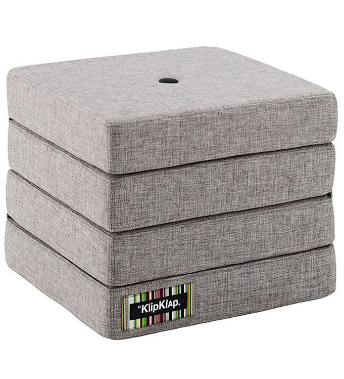 Image of   by KlipKlap Foldemadras - 4 Fold - Multi Grey/Grey