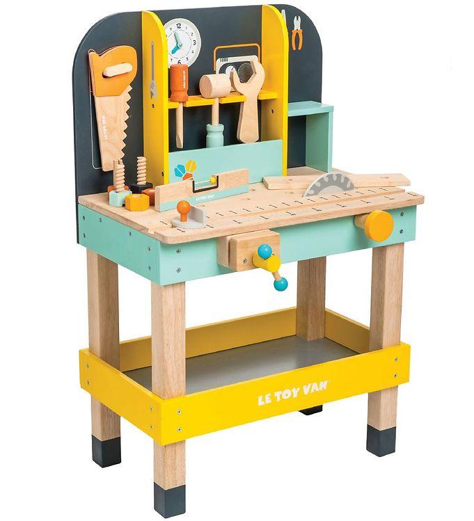 Le Toy Van Værktøjsbænk - Multifarvet - Le Toy Van,Le Toy Van Legekøkken,Le Toy Van Trælegetøj,Værktøj - Le Toy Van