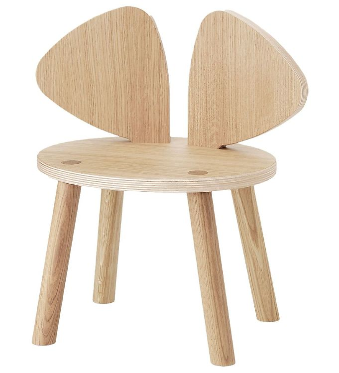Image of Nofred Børnestol - Mouse Chair - Matt Lacquered Oak (TB755)