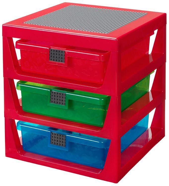 Image of Lego Storage Opbevaring m. 3 Skuffer - Rød (TB862)