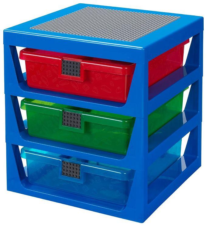 Image of Lego Storage Opbevaring m. 3 Skuffer - Blå (TB863)