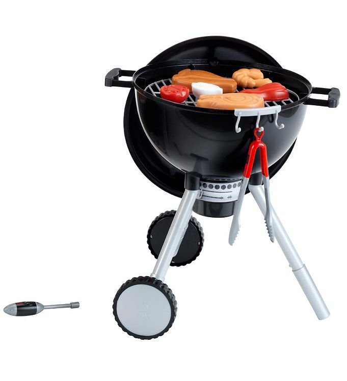 Image of Weber Mini Grill Light and Sound - Legetøj - Sort m. Mad (TB910)