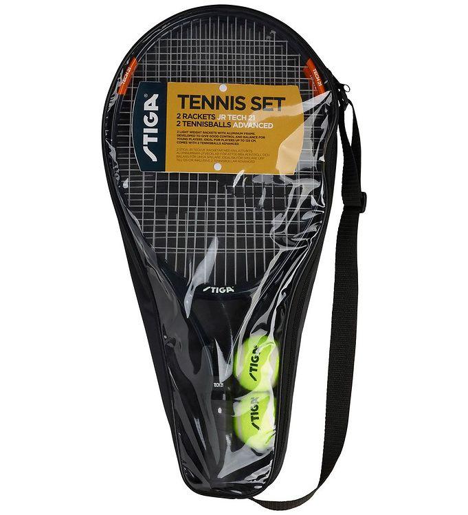 Image of Stiga Tennissæt - Jr Tech 21/Advanced - Sort (TC195)