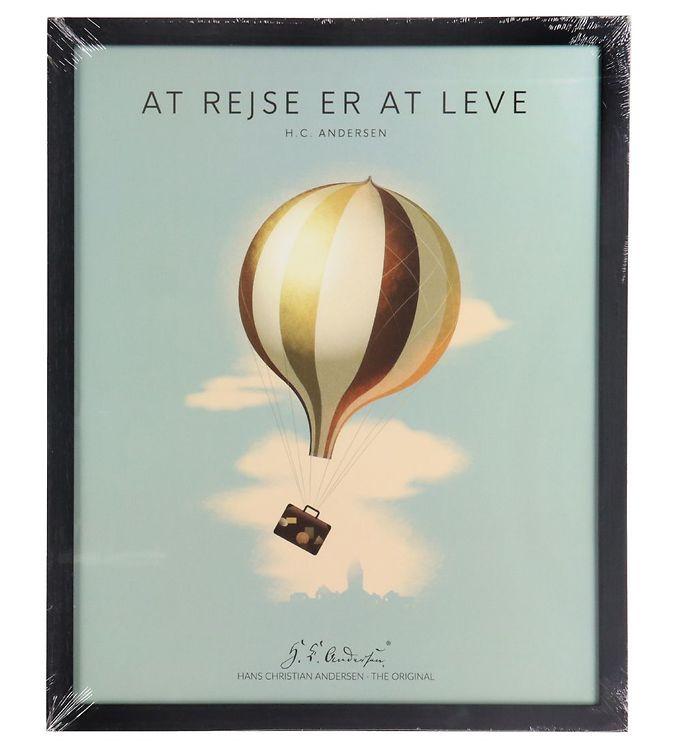 Image of H.C. Andersen Plakat - 40x50 cm - At Rejse Er At Leve (TC239)