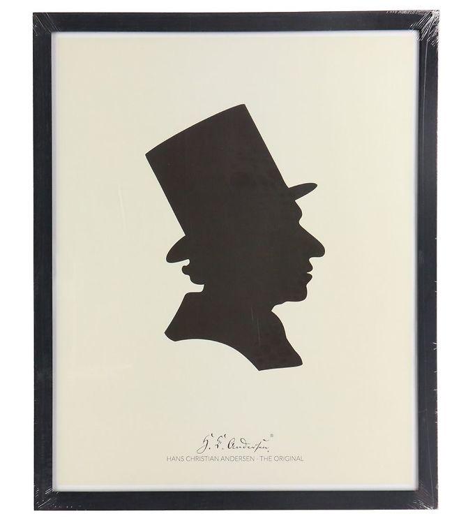 Image of H.C. Andersen Plakat - 40x50 cm - Silhuet (TC240)