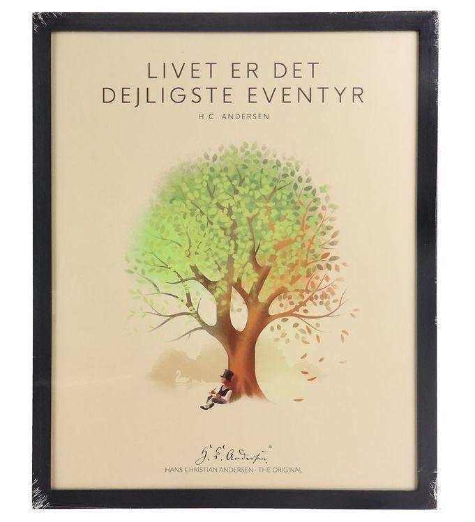Image of H.C. Andersen Plakat - 40x50 cm - Livet Er Det Dejligste Eventyr (TC242)