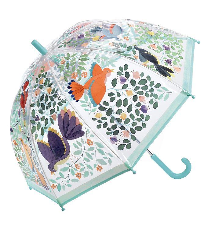 Djeco Paraply til Børn - Blomster & Fugle
