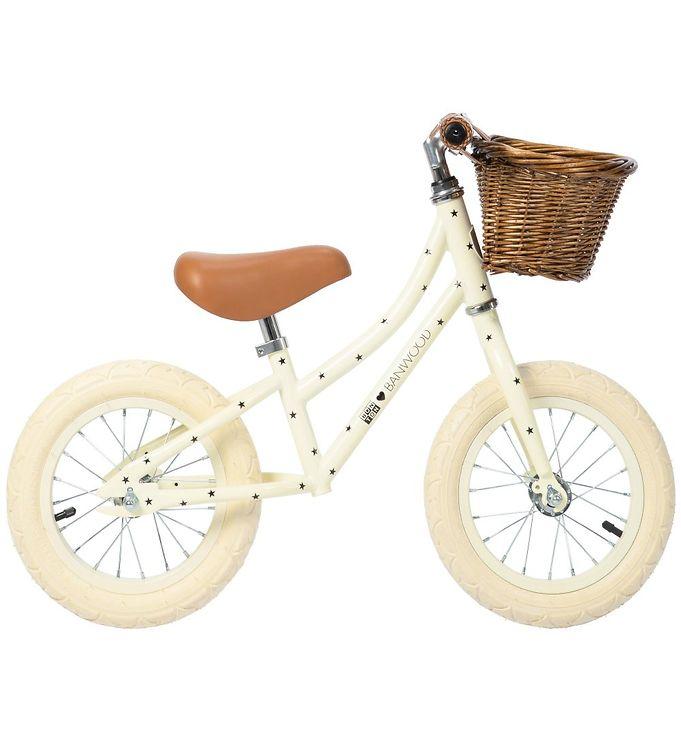 Billede af Banwood Løbecykel - First Go! - Creme m. Stjerner