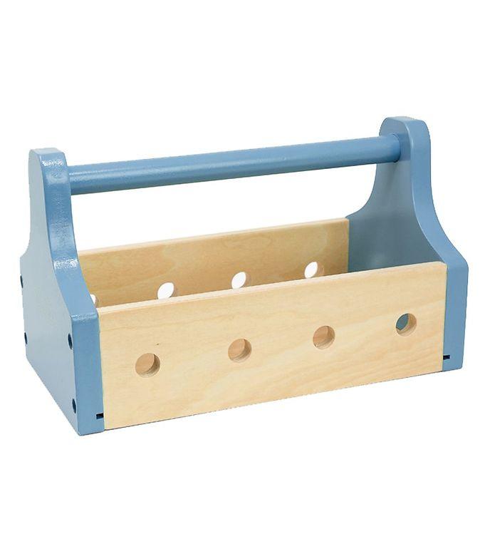 MaMaMeMo Værktøjskasse - Træ/Lyseblå